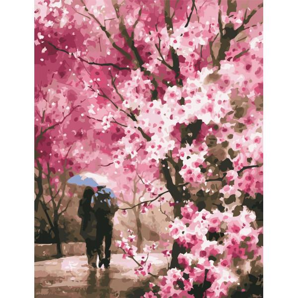 "Картина по номерам ""Весенний дождь"""