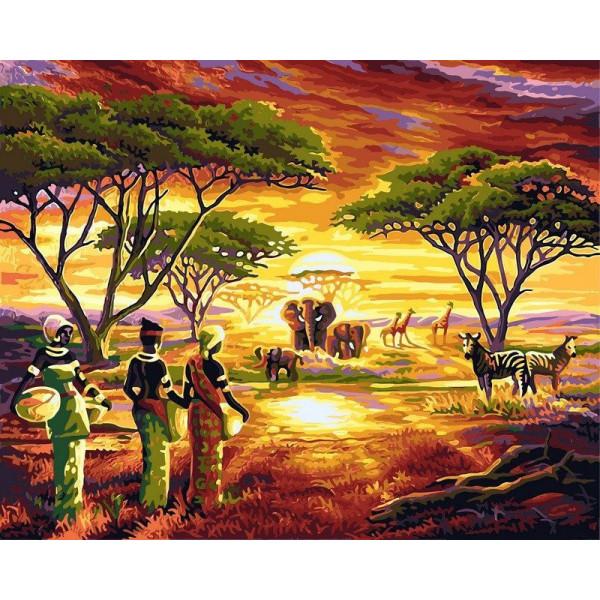"Картина по номерам ""Африка"""