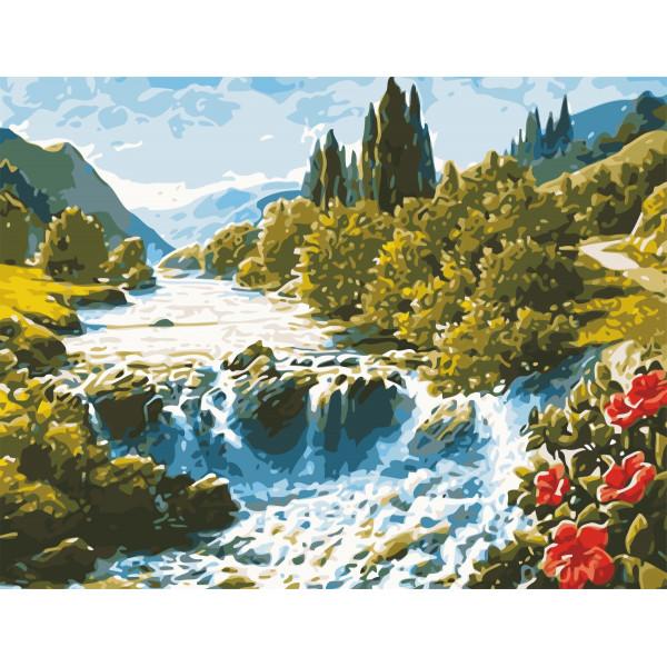 "Картина по номерам ""Волшебный водопад"""