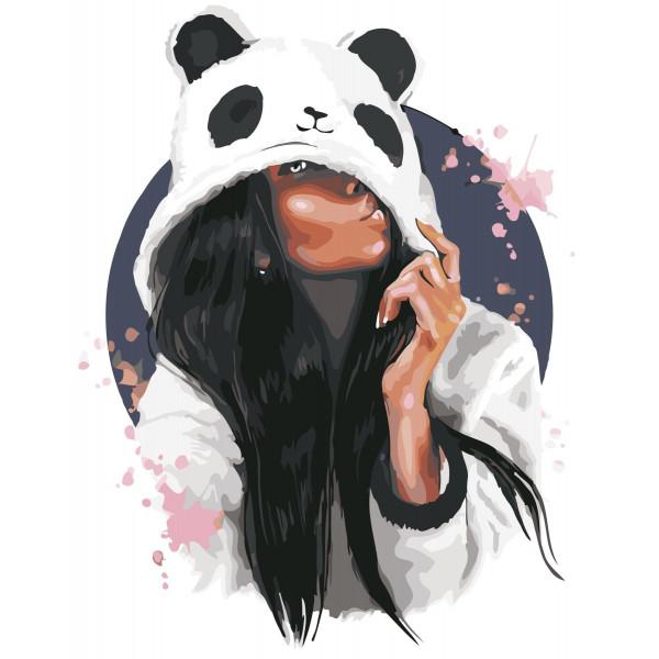 "Картина по номерам ""В стиле панды"""