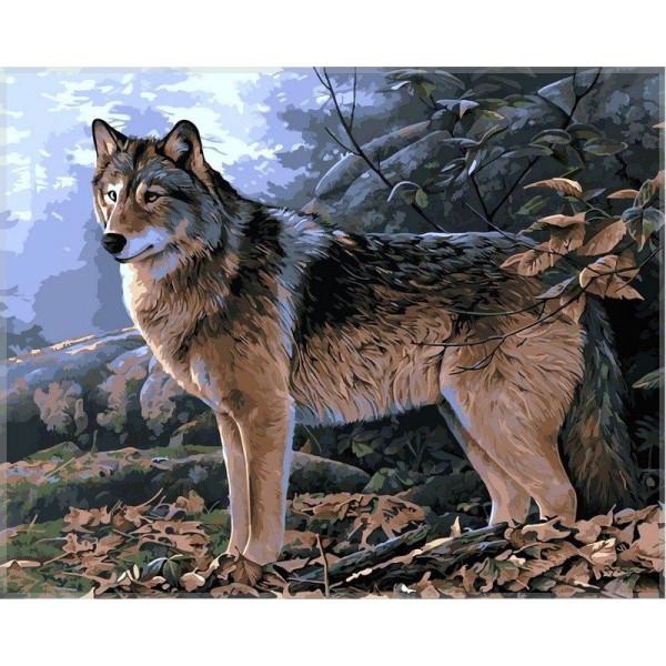 """Картина по номерам """"Волк в осеннем лесу"""""""