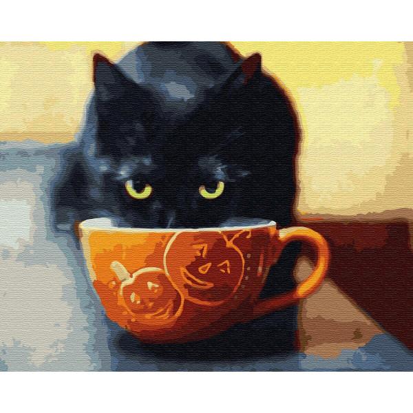 """Картина по номерам """"Довольный котик"""""""