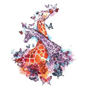 """Картина по номерам """"Влюбленные жирафы"""""""