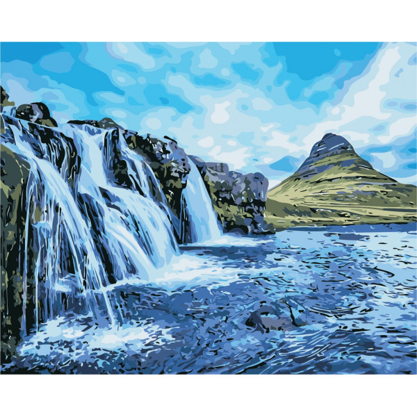"Картина по номерам ""Водопады"""