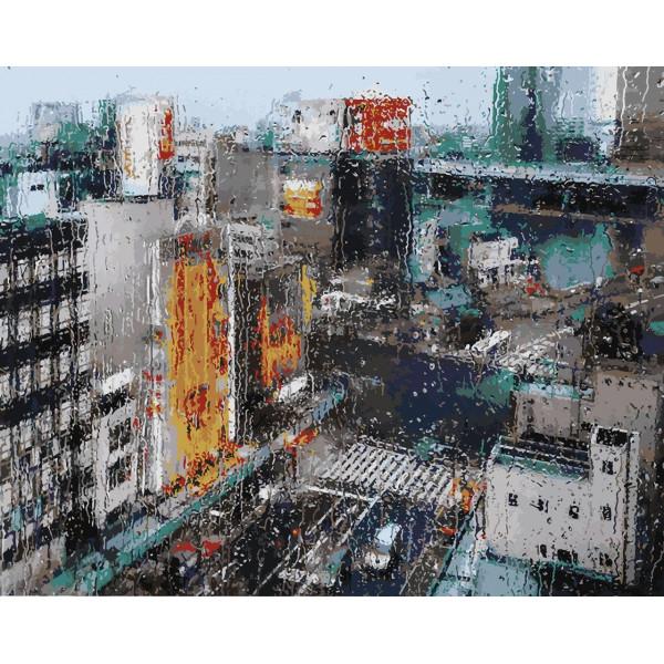 """Картина по номерам """"Дождь в мегаполисе"""""""