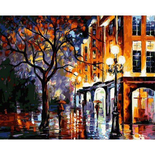 """Картина по номерам """"Дождь в Майами"""""""