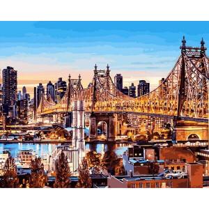 """Картина по номерам """"Вечер в Нью-Йорке"""""""