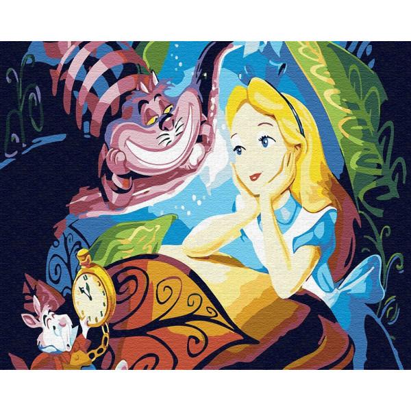 """Картина по номерам """"Алиса и Чеширский кот"""""""