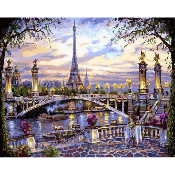 "Картина по номерам ""Воспоминания о Париже"""
