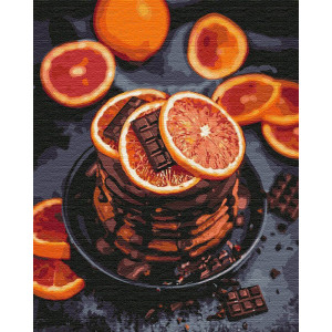 """Картина по номерам """"Апельсиново-шоколадное наслаждение"""""""