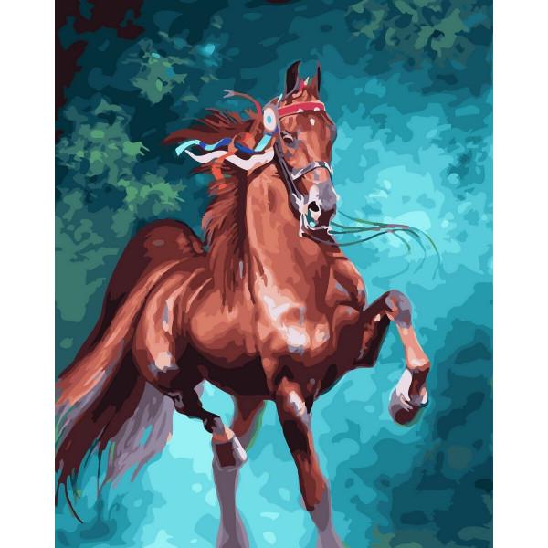 """Картина по номерам """"Грациозная лошадь"""""""