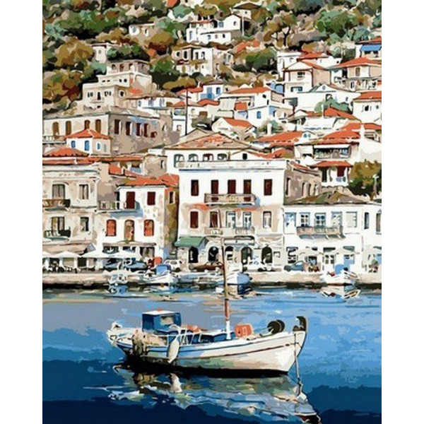 """Картина по номерам """"Греческий пейзаж"""""""
