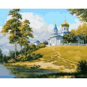 """Картина по номерам """"Церковь на холме"""""""