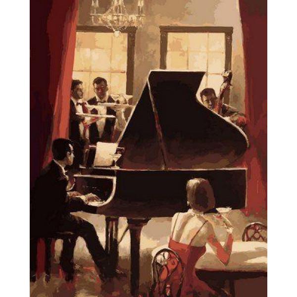 "Картина по номерам ""Джаз на пианино"""