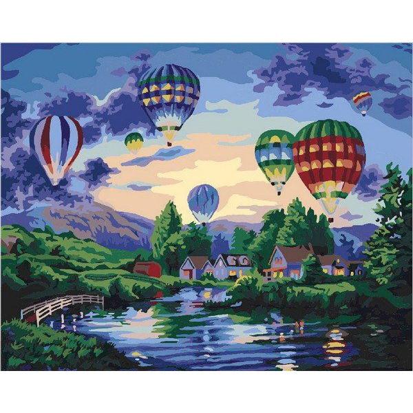 """Картина по номерам """"Воздушные шары в сумерках"""""""