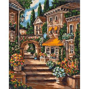"""Картина по номерам """"Цветущий переулок"""""""