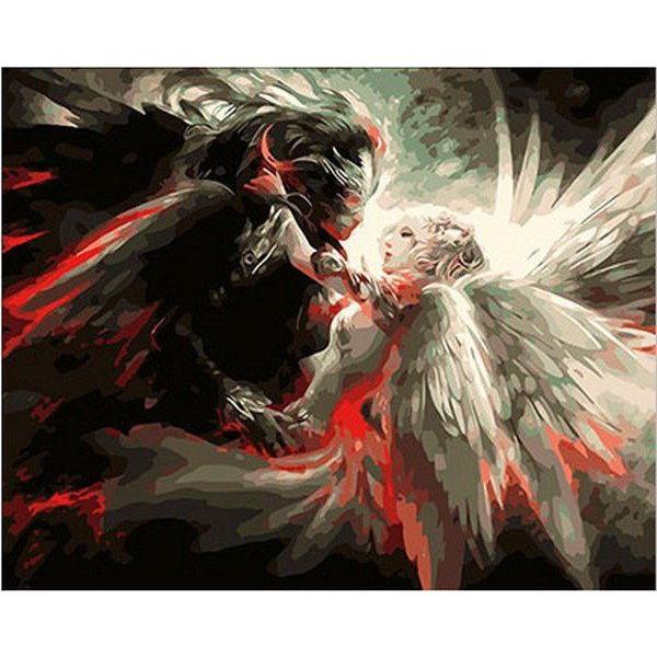 "Картина по номерам ""Ангел и Демон"""
