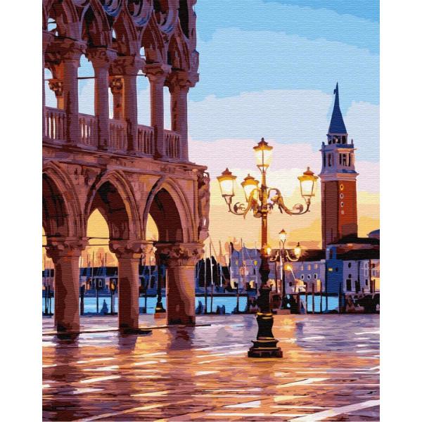 """Картина по номерам """"Вечерняя площадь Венеции"""""""