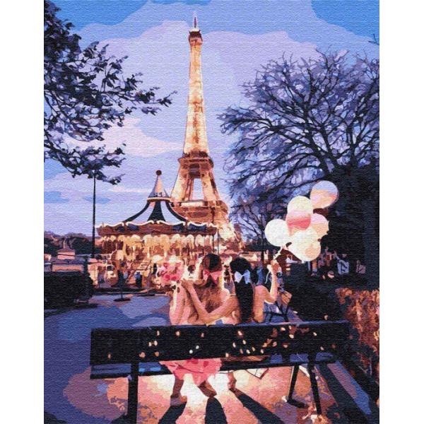 """Картина по номерам """"Вечер в Париже"""""""