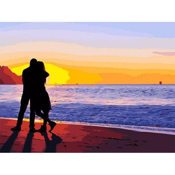 """Картина по номерам """"Влюбленные на побережье"""""""