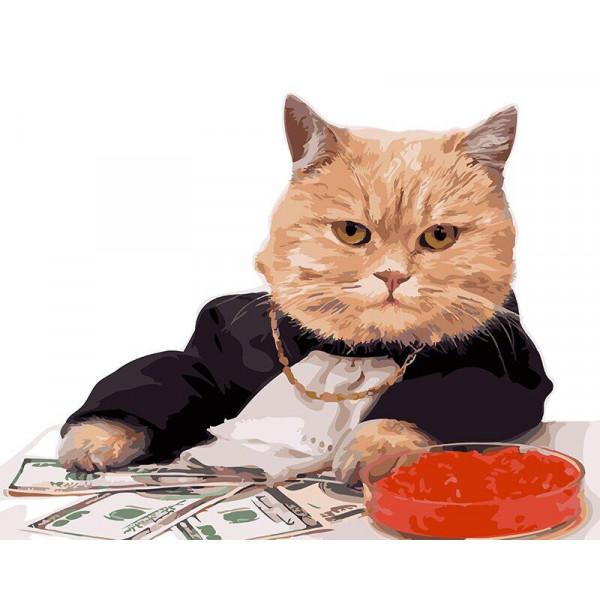 """Картина по номерам """"Валютный кот"""""""