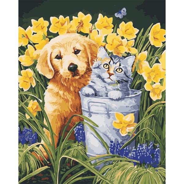 """Картина по номерам """"В саду"""""""