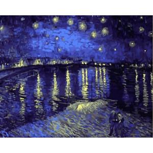 """Картина по номерам """"Звездная ночь над Роной"""""""