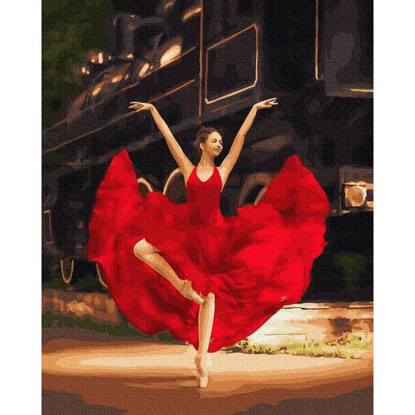 """Картина по номерам """"Балерина в красном"""""""