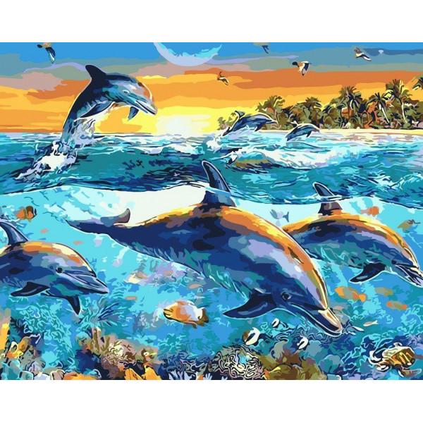 """Картина по номерам """"Глубины океана"""""""