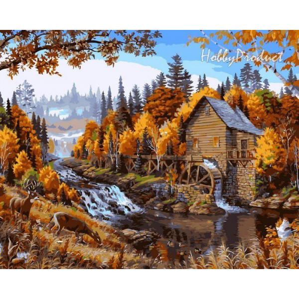 """Картина по номерам """"Дом в лесу"""""""