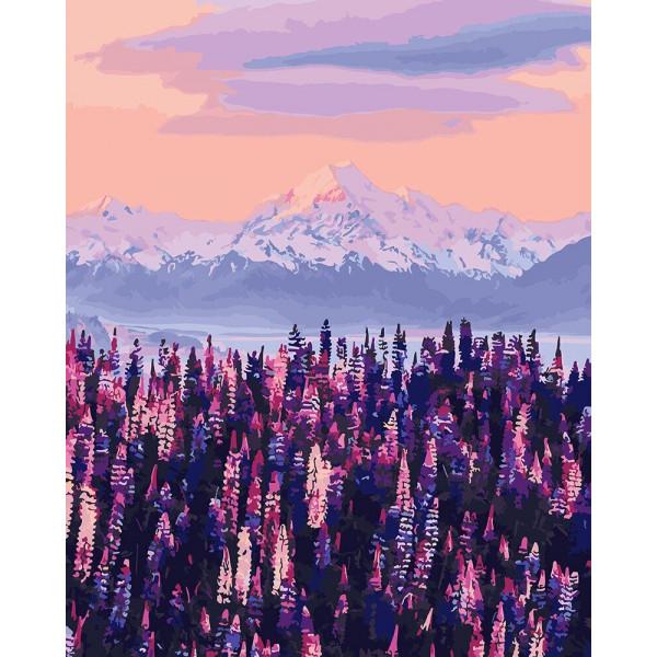 """Картина по номерам """"Горы Новой Зеландии"""""""