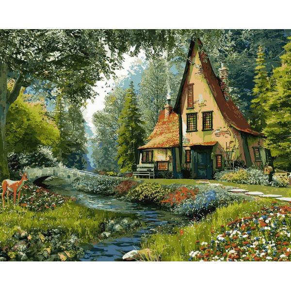 """Картина по номерам """"Дом на опушке леса"""""""