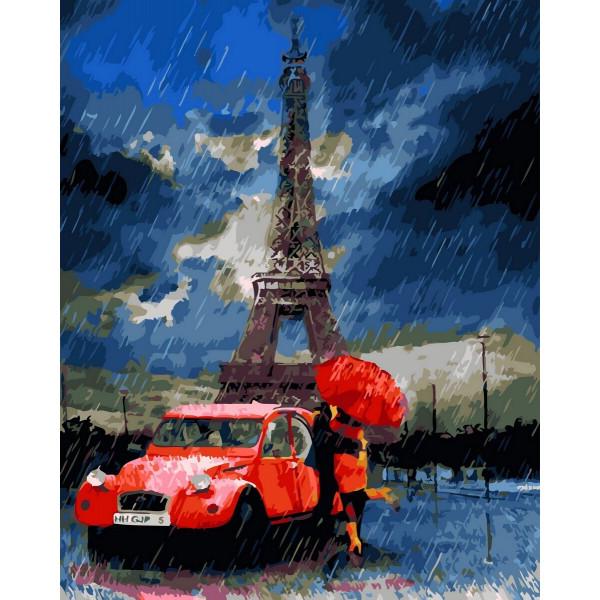 """Картина по номерам """"Дождь в Париже"""""""