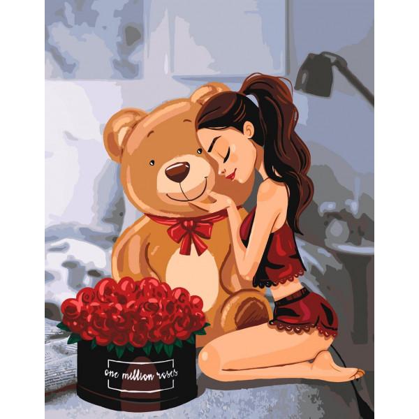"""Картина по номерам """"One million roses"""""""