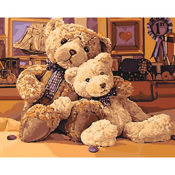 "Картина по номерам ""Братец-медведь"""