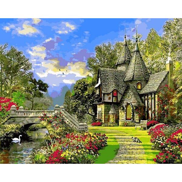 "Картина по номерам ""Дом с башенками"""