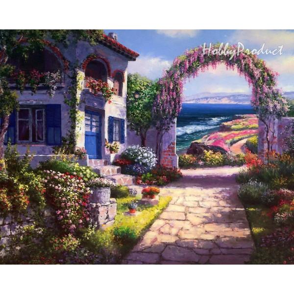 """Картина по номерам """"Арка в цветах"""""""