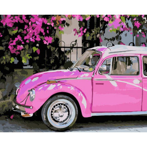 "Картина по номерам ""Розовое авто"""