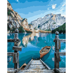 """Картина по номерам """"Альпийское озеро"""""""