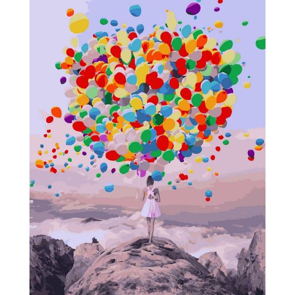 """Картина по номерам """"Букет воздушных шаров"""""""