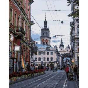 """Картина по номерам """"Улица города Льва"""""""