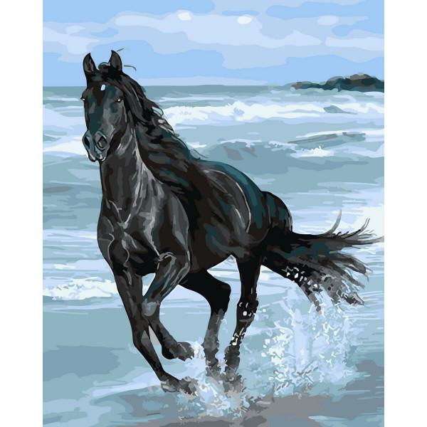 """Картина по номерам """"Вороной конь"""""""