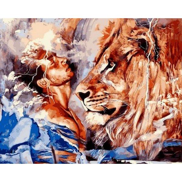"Картина по номерам ""Его лев"""