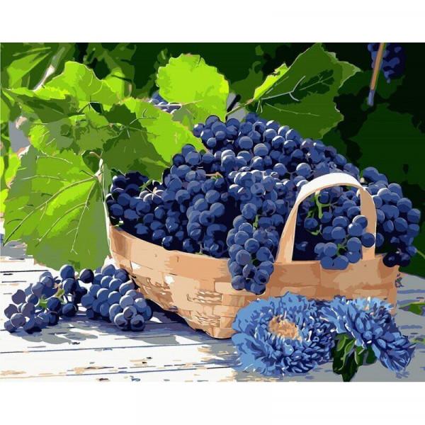 "Картина по номерам ""Виноград в корзине"""