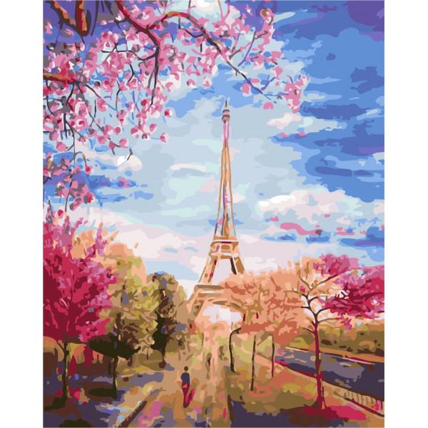 """Картина по номерам """"Весеннее небо Парижа"""""""