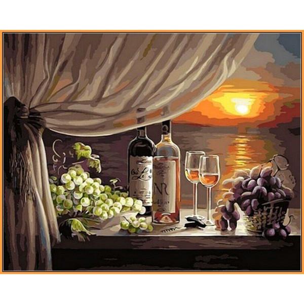 "Картина по номерам ""Вино на закате"""