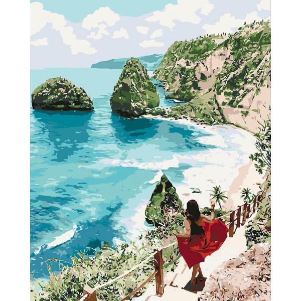 """Картина по номерам """"Бриллиантовый пляж"""""""