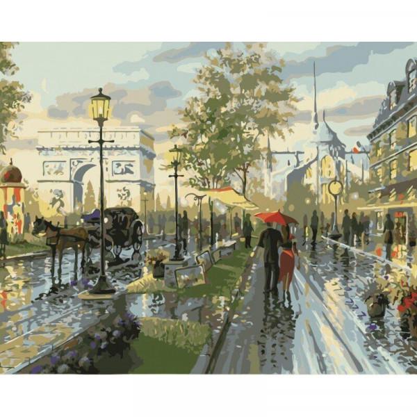 """Картина по номерам """"Дождливый вечер"""""""