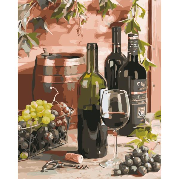 "Картина по номерам ""Вино для гурмана"""