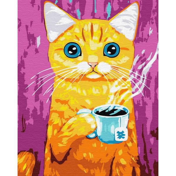 "Картина по номерам ""Голубоглазый кот"""